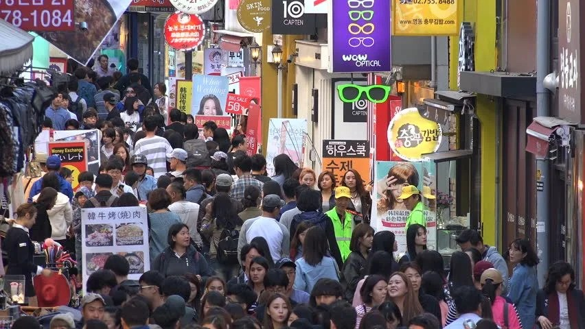 Image result for crowded seoul