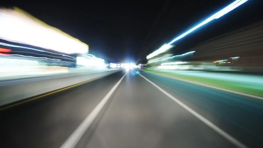 Image result for driving through a tunnel night