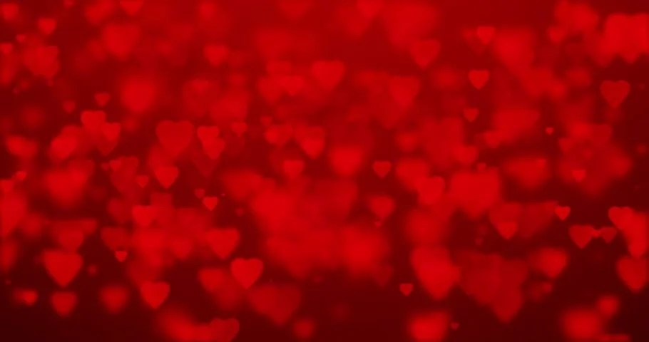 Heart Bokeh Lights Animation Background Stock Footage
