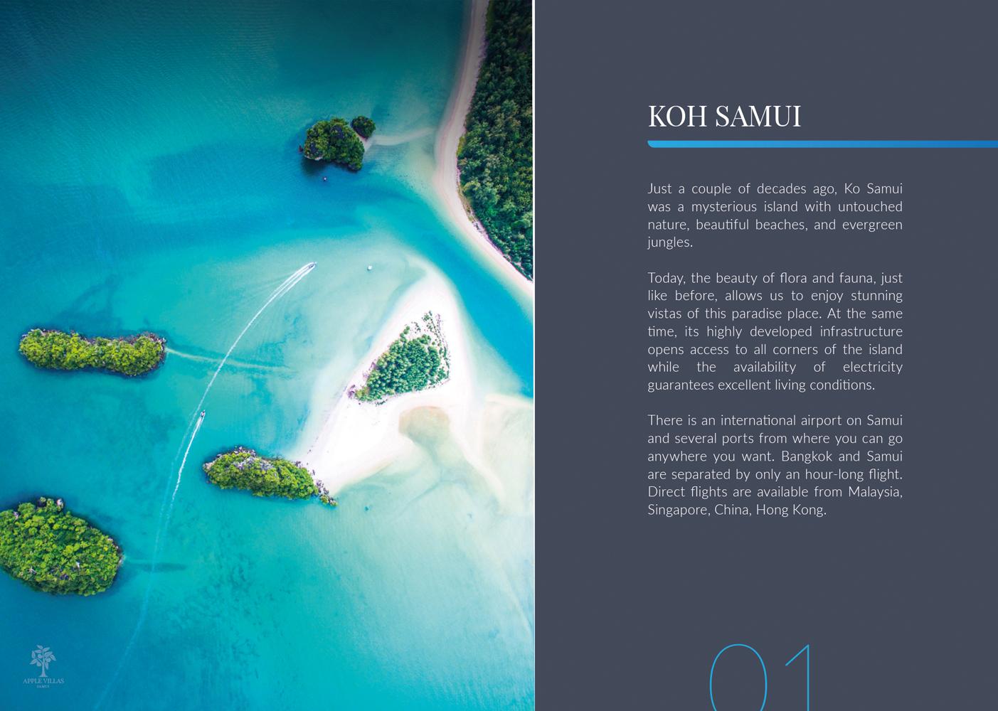 Apple Villas brochure design and printing on Koh Samui