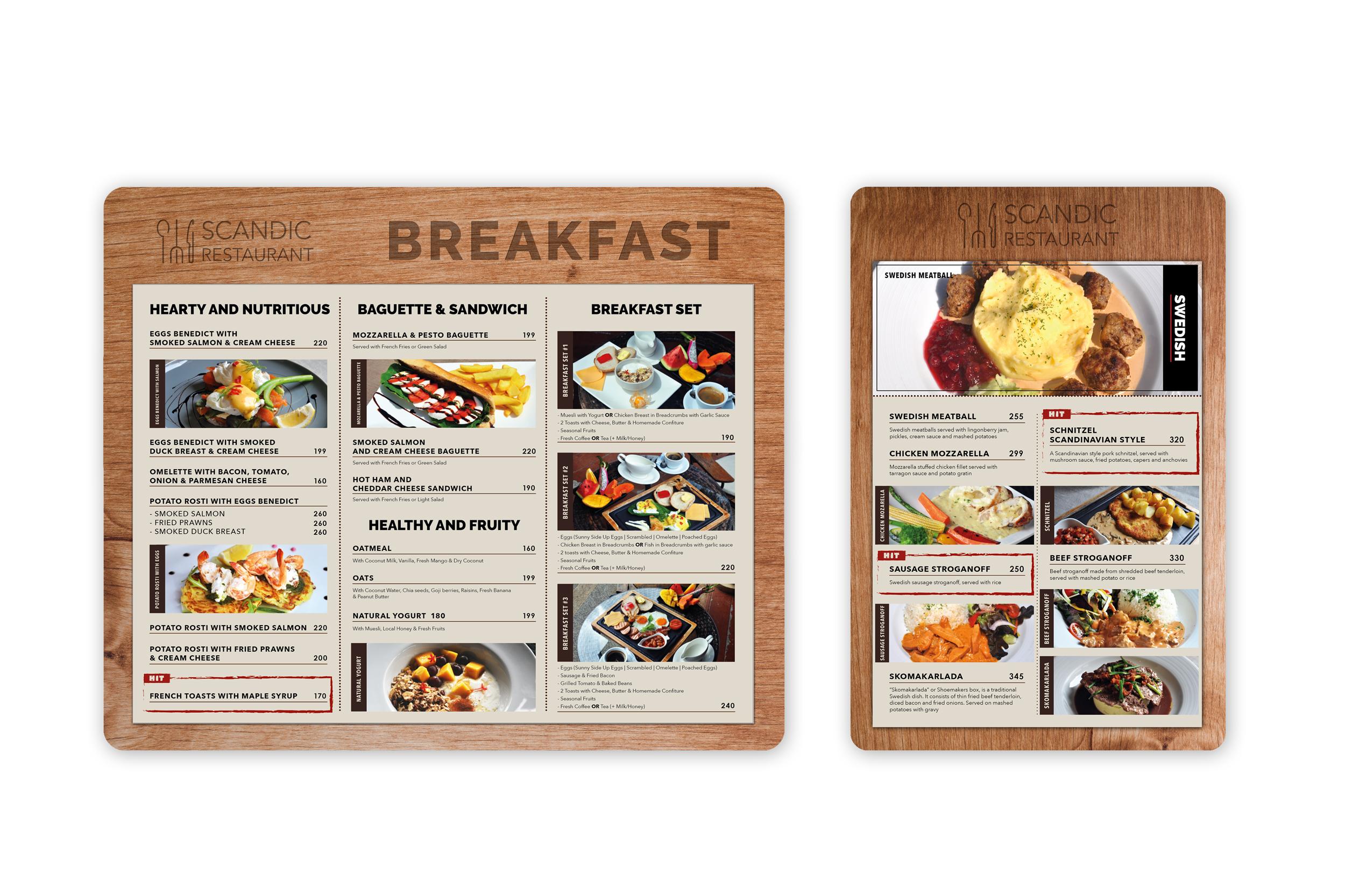 SCANDIC menu design & printing | Koh Samui