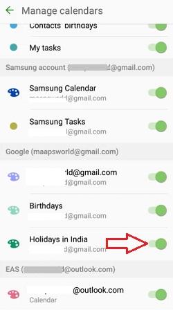 show samsung national holidays