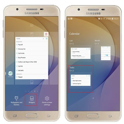 Samsung Galaxy J Series Mobiles tips and tricks - to do list add task