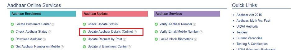 change address on aadhaar