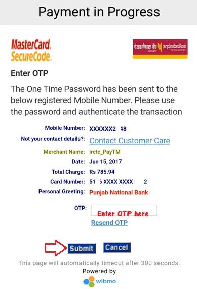 IRCTC tatkal ticket booking using app
