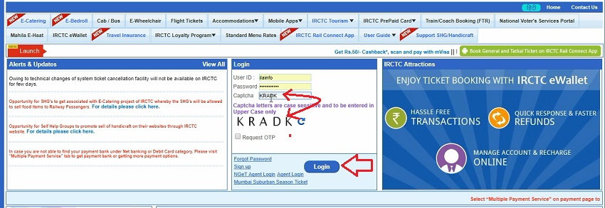 create an account on irctc