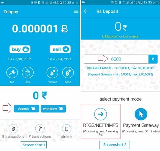 buy bitcoin from zebpay