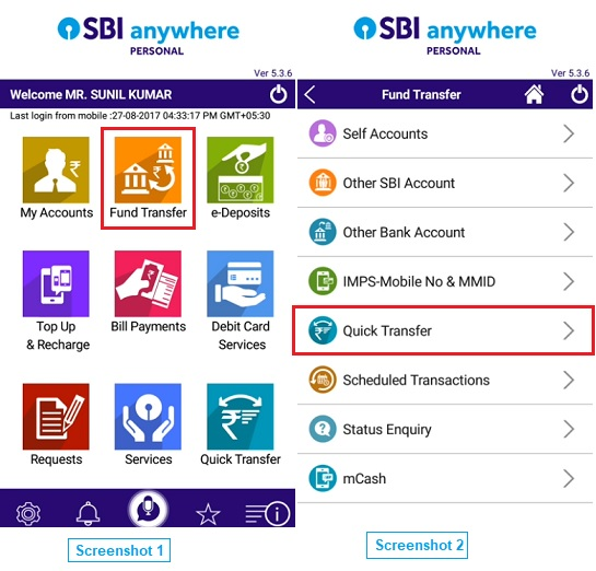 sbi anywhere transfer fund
