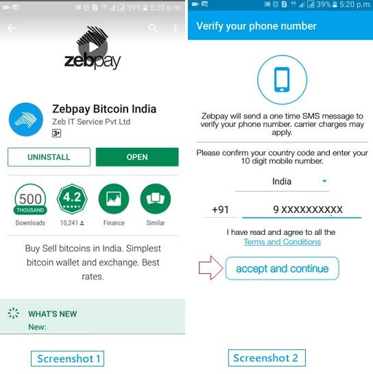 zebpay create account