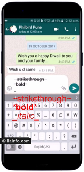 format whatsapp text - whatsapp tricks