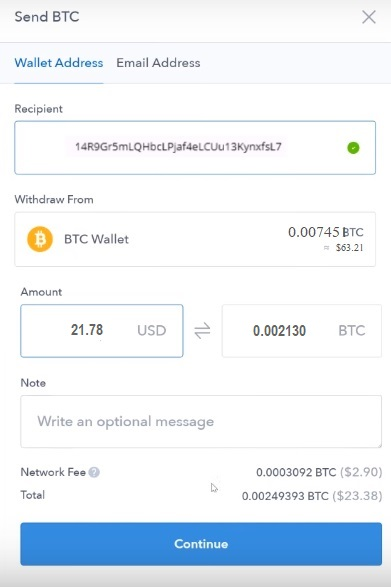 coinbase send bitcoin - send bitcoin from coinbase to ledger nano s wallet 1