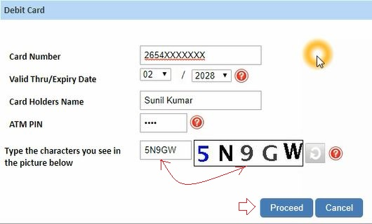 reset sbi netbanking password using atm card details online