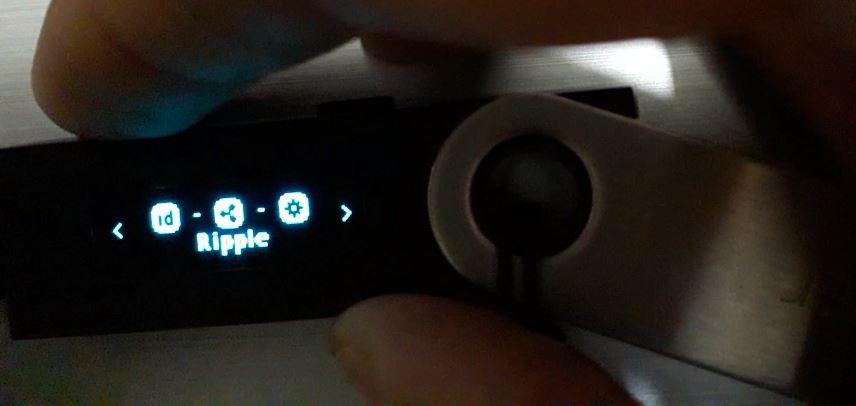 ripple to ledger nano s blue