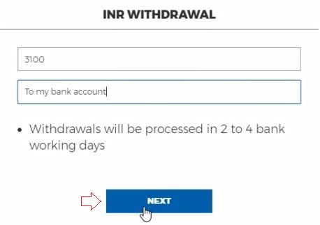 how to Withdraw Money From Koinex to Bank inr