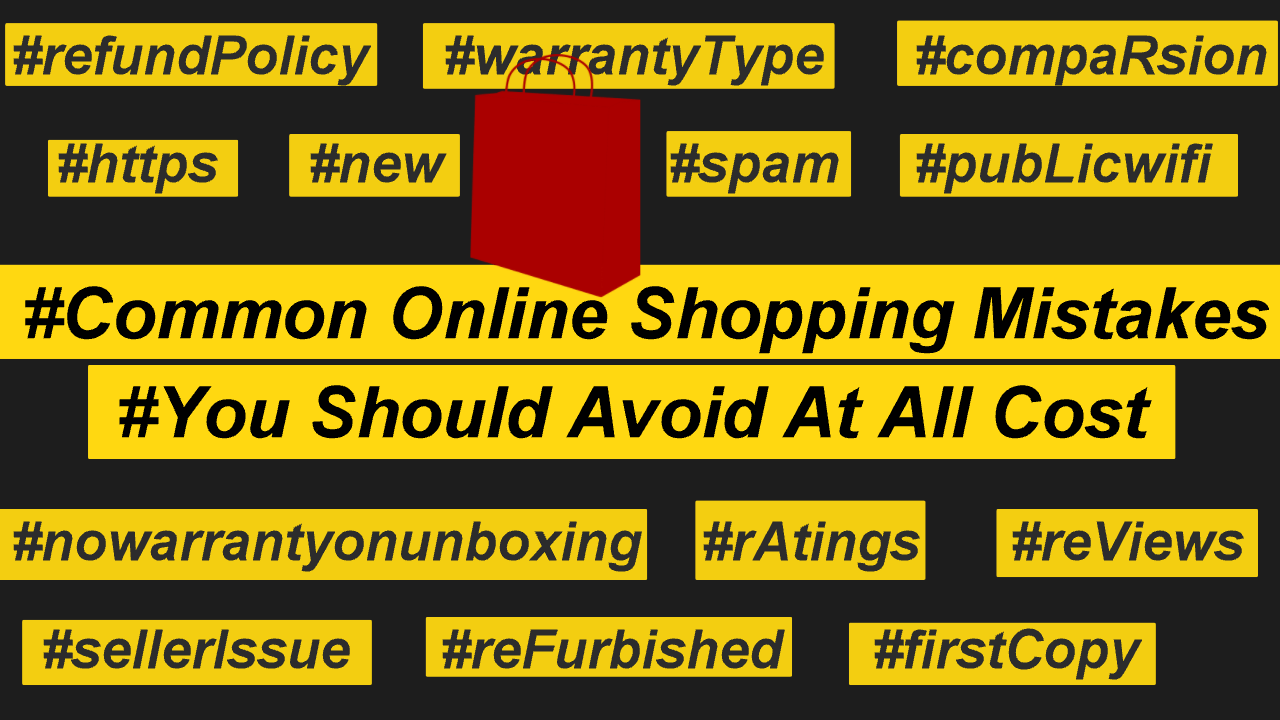 common online shopping mistakes
