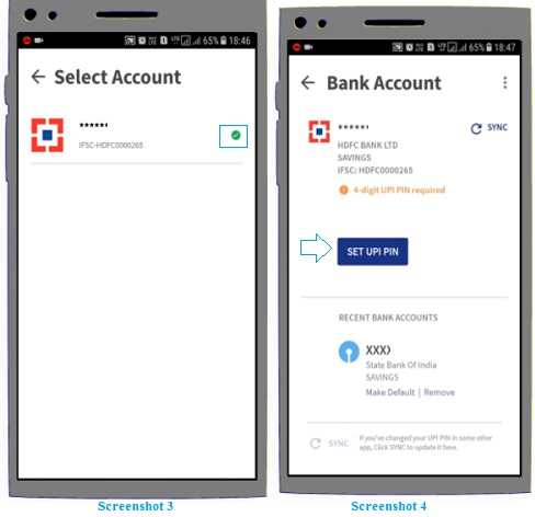 new bank account in bhim