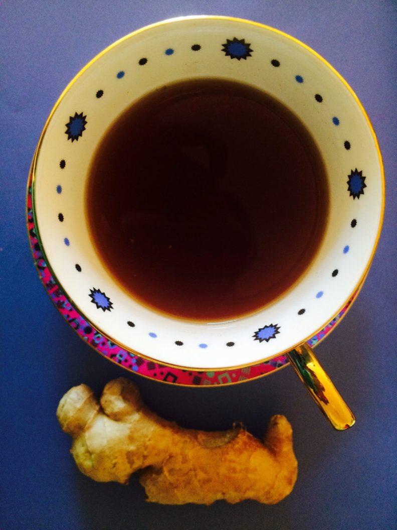 Black tea cough ginger