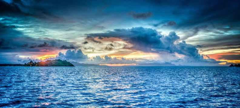 sea nature sky sunset