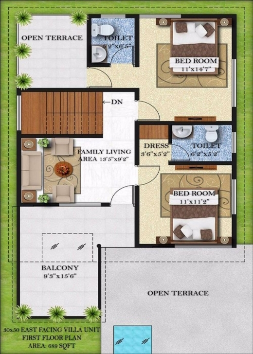 30 50 House Map East Facing Inspiring Ideas 5 Duplex House