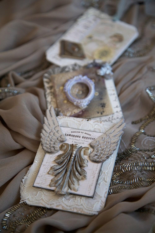 Itens da Architextures collection usados para compor adorno em estilo vitoriano