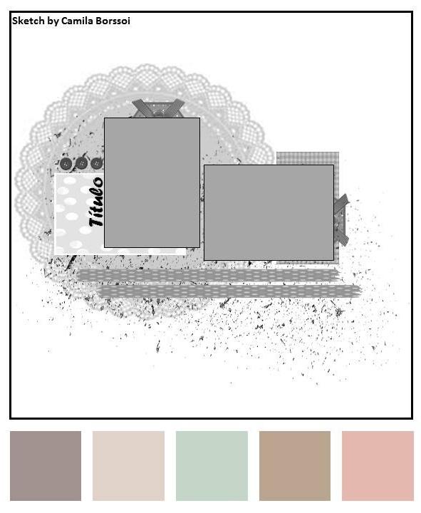 Sketch do desafio Scrap entre Amigas # 67