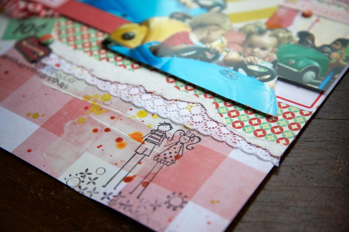 Camadas e rendas no scrapbook