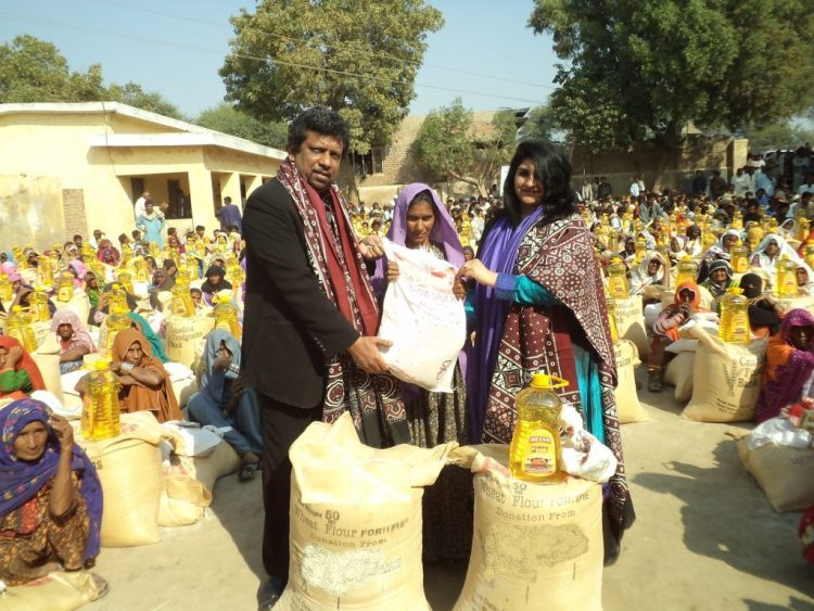 Distribution of Food Package in Badin Sindh 2012