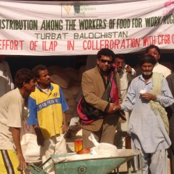 Distribution of Food Packages in Turbat Baluchistan 2008