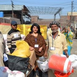 NFI Distribution among Badami Bagh Incident affected families 2015