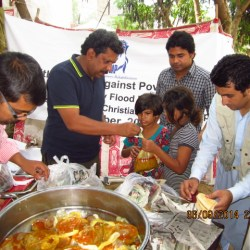 Wet Feeding in Sharoon Colony Rawalpindi 2014