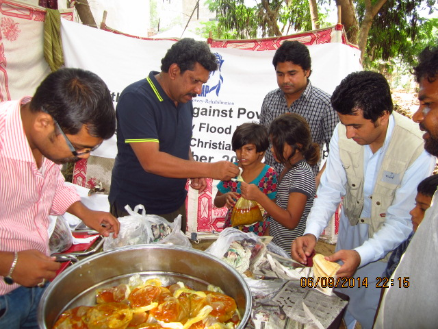 Wet Feeding in Sharoon Colony Rawalpindi 2014