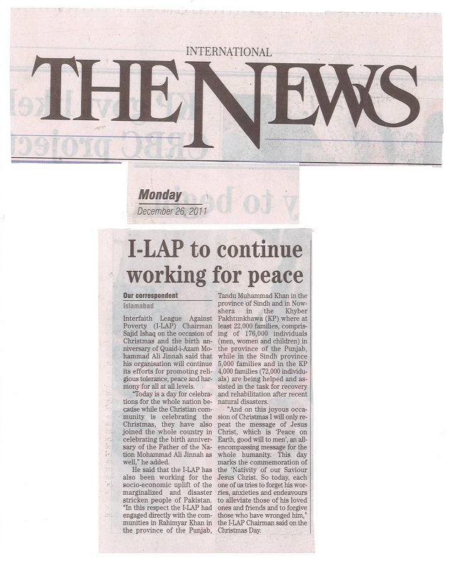 I-LAP to continue working for peace