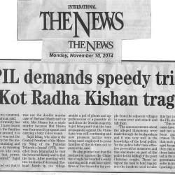 PIL demands speedy trial in Kot Radha Kishan tragedy
