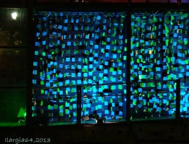 Glass wall with post-its, Vitoria-Gasteiz