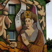 Multicoloured Walls Found Inside the Old City, in Vitoria-Gasteiz...
