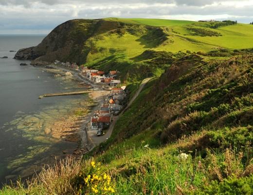 Il villaggio di CROVIE visto dall'alto della strada