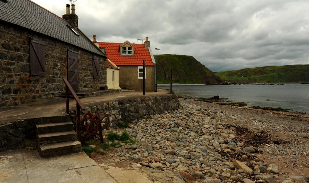 I cottage di CROVIE direttamente lambiti dal mare
