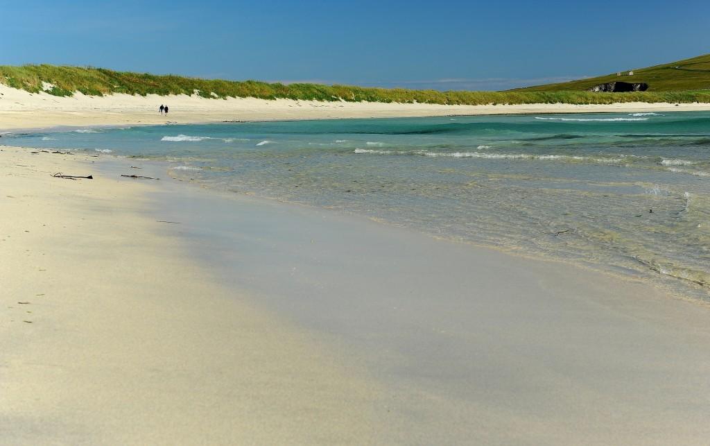 La bellissima spiaggia di WEST VOE