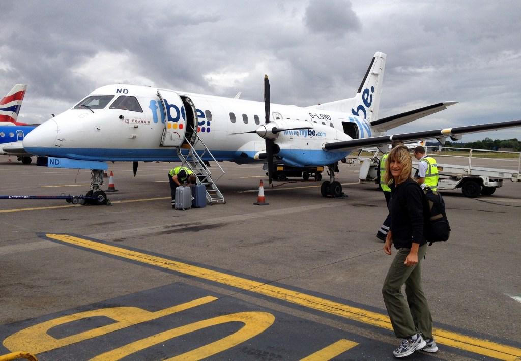 In partenza da Aberdeen verso l'aeroporto di SUMBURGH