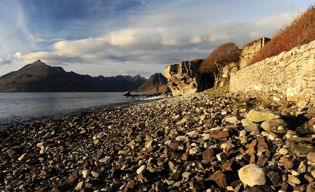 La spiaggia di ELGOL affacciata sul LOCH SCAVAIG