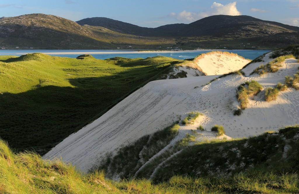 L'accesso alla spiaggia di LUSKENTYRE attraverso le dune