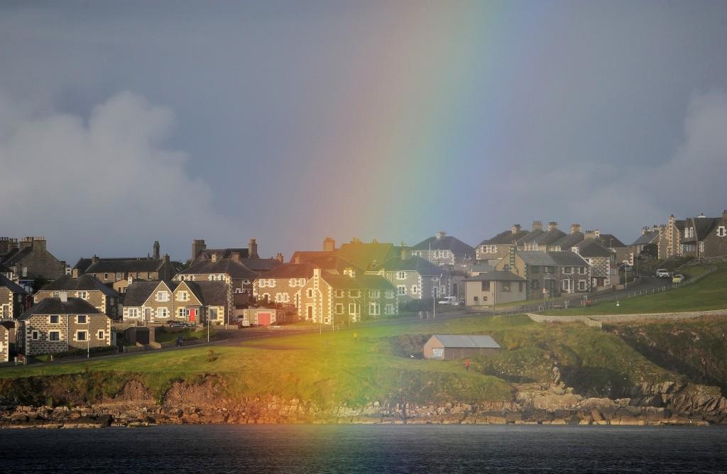 Uno splendido arcobaleno su LERWICK