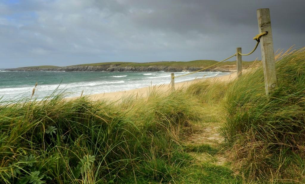 L'accesso alla spiaggia...
