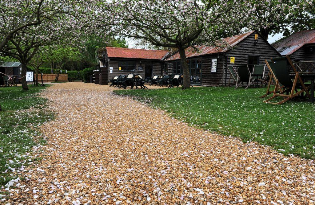 Tappeto di petali all'ORCHARD TEA GARDEN di Grantchester