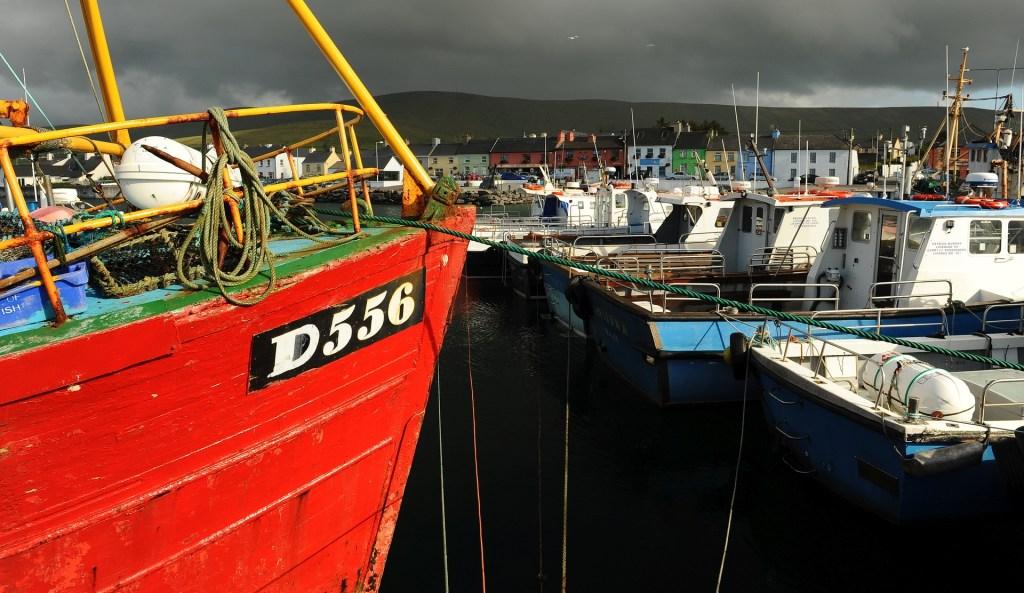 Il coloratissimo villaggio di PORTMAGEE visto dal porto