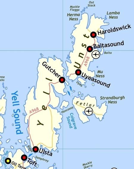 Le isole di YELL e UNST, nel nord dell'arcipelago delle SHETLAND