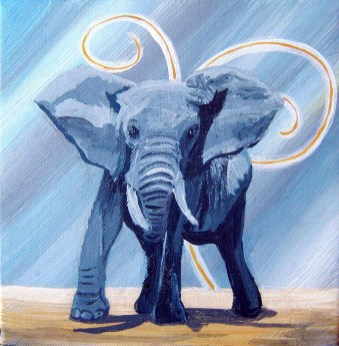Blue elephant - Not available