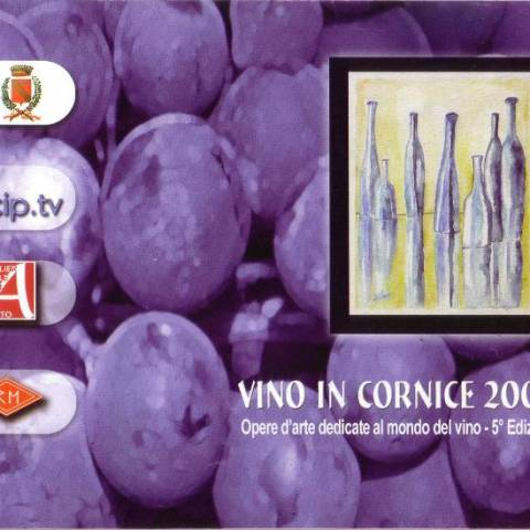 Catalog Wine in frame exibhition Albavilla Como Italy 2006