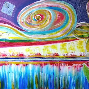 Magic of the rainbow 100x150cm