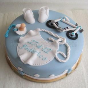 torta battesimo bici